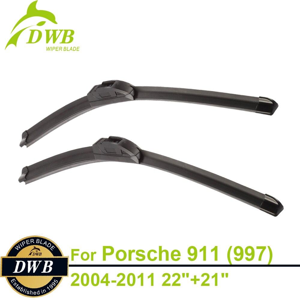 """Escobillas de limpiaparabrisas para Porsche 911 (997) y 911 (997) Carrera 2004-2011 22 """"+ 21"""", 2 uds envío gratis, ajuste directo de limpiaparabrisas"""