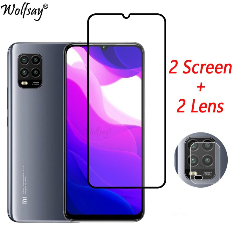 Full Cover Tempered Glass For Xiaomi Mi 10 Lite Screen Protector Xiaomi Mi 10 9 Lite Camera Glass For Xiaomi Mi 10 Lite 5G Glass