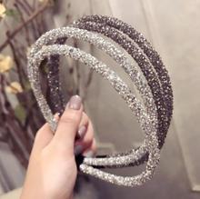 Bandeau pour femmes cristal brillant pour filles   Accessoires pour cheveux, strass, bandeau perles lunette, Simple, couvre-chef