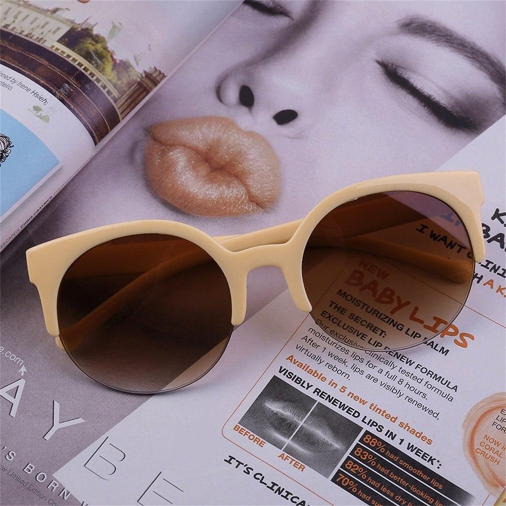 2020 Fashion Unisex Classic Round Circle Frame Semi-Rimless Sunglasses Eyewear Outdoor Men Sunglasse