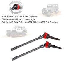 2PCS Hard Metal Steel CVD Drive Shaft Dogbone for 1/10 Axial SCX10 90022 90021 90035 RC Rock Crawler RC Cars Part
