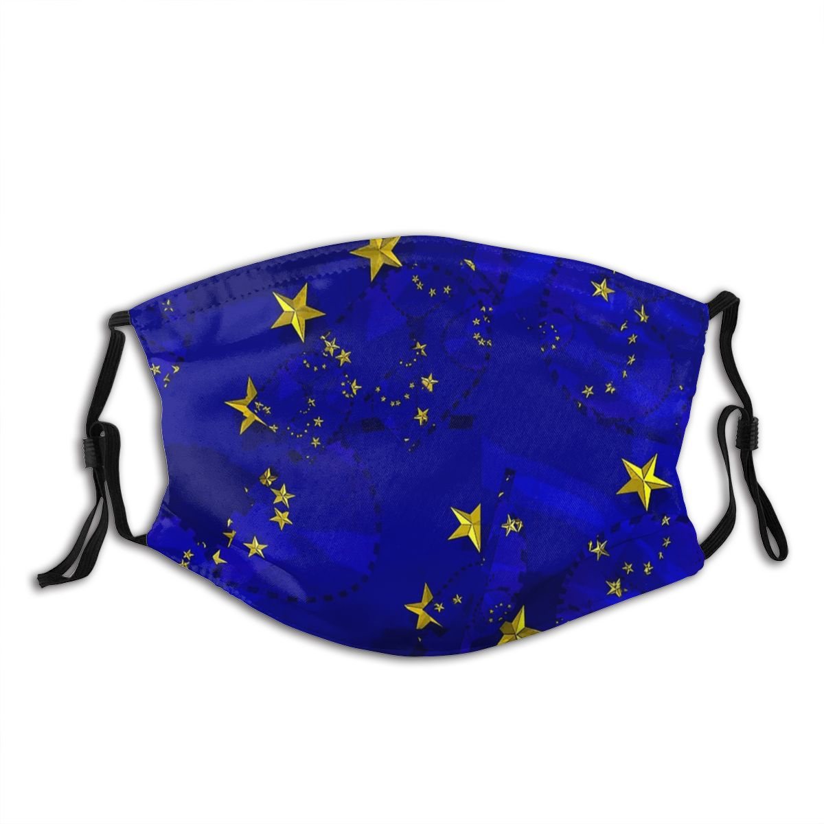 Eu Flag Remainers Stars Blue Bywhacky Brexit Reusable Mouth Face Mask Windproof Cold Proof with Filters Polyester Protection