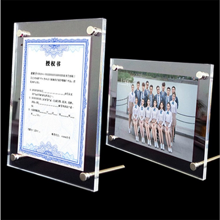 1pc 5 6 7 8 inch clear acrylic photo frame magnetic picture photo poster display frame for table sign price tag label promotion Clear 210*297mm Photo Picture Label Frame Poster Sign Stand Acrylic Price Tag Display Holder