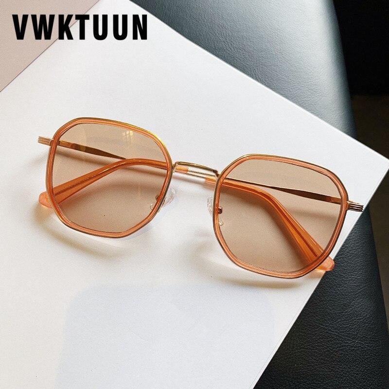 Солнцезащитные очки VWKTUUN, винтажные квадратные очки с прозрачными линзами, большие солнцезащитные очки