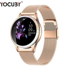 Bluetooth montre intelligente femmes plein écran en alliage de diamant Smartwatch moniteur de fréquence cardiaque Sport dame montre pour IOS Android xiaomi KW20