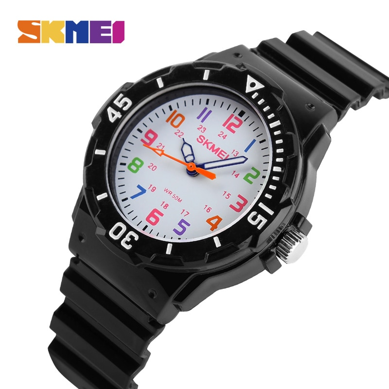 SKMEI Fashion Casual Watch For Kids Waterproof Watches 5bar Quartz Wristwatches Jelly Clock Children Watch For Gril Relogio Gift