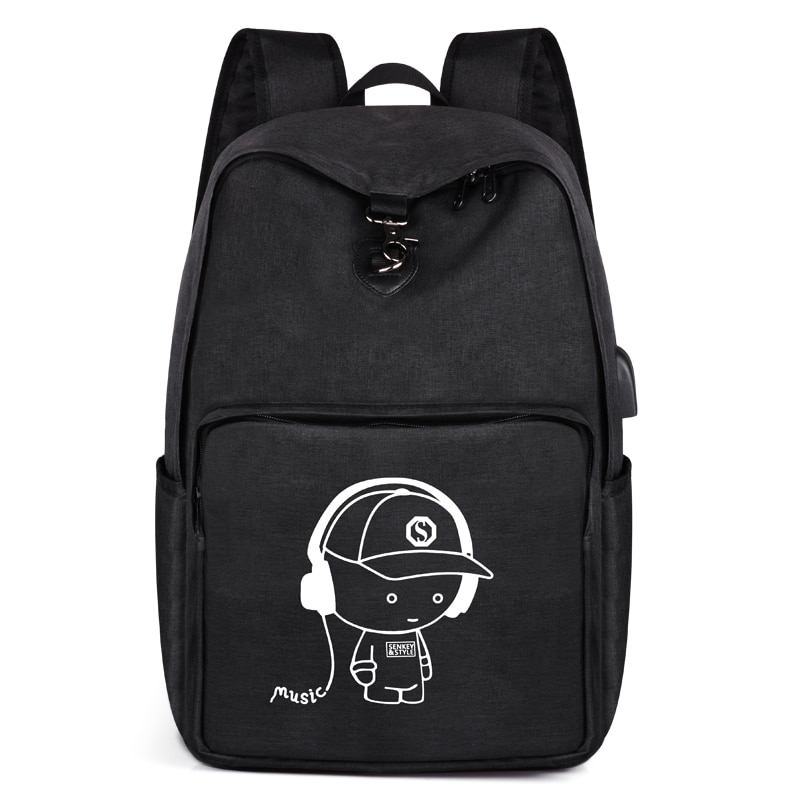 SenkeyStyle Black Backpack Large Capacity Summer Travel Backpacks for Men 2021 Casual School Bags fo