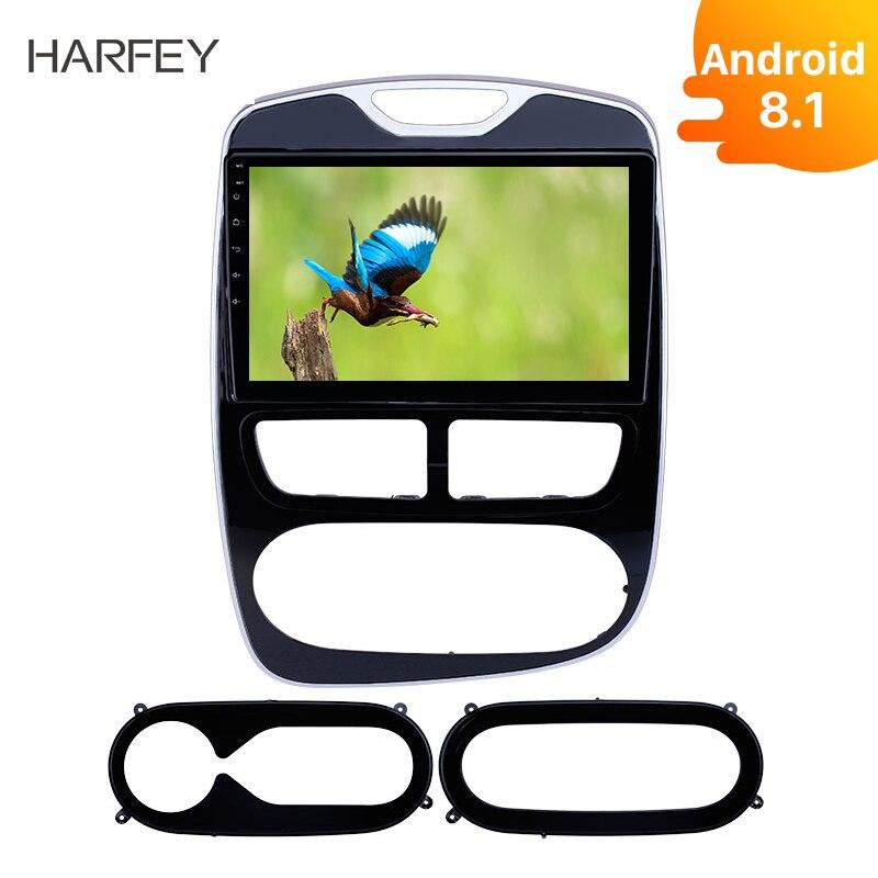 """Harfey coche 2Din Android8.1 Auto Radio 10,1 """"de Audio para Renault Clio Digital/2012-2015 analógico, 2016 Gps Navi Bluetooth apoyo OBD2"""