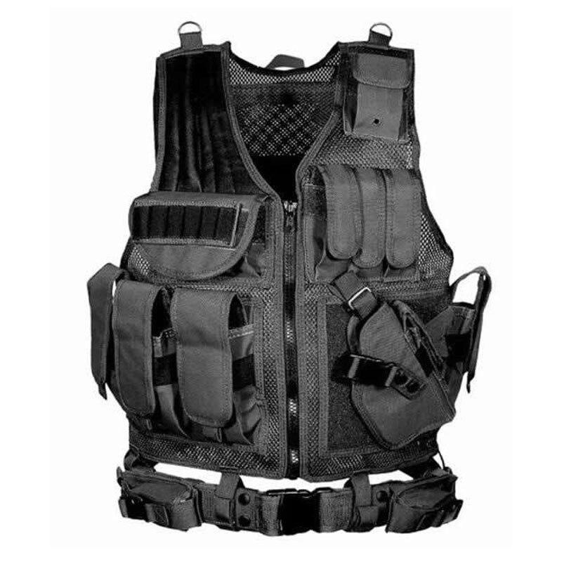 Chaleco táctico Multi-Bolsillo SWAT ejército CS equipo de protección al aire libre caza chaleco Camping senderismo accesorios chaleco antibalas
