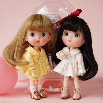 Pura ropa para Obitsu11 OB11 1/12 muñeca estrella falda siamesa disponible para cu-poche OB11 accesorios de la muñeca falda siamesa