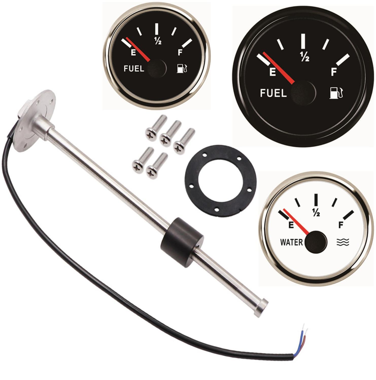 1pc Kraftstoff Niveau Sensoren 0-190ohm 240-33ohm 200 250 300 350 450mm Wasser Ebene Sensoren 52mm fahrzeuge Kraftstoff Ebene Messgeräte für Auto Boot