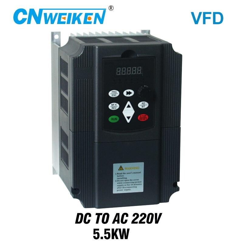 Inversor 220 فولت تيار مستمر الفقرة 220 فولت التيار المتناوب trifásico المحادثة 5.5kw كوم منصة دي تحكم MPPT VFD