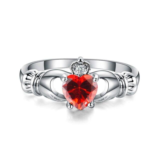 Herz CZ Stein Hochzeit Ringe für Frauen Bijoux Bague Femme Ring Mode Schmuck Anillos