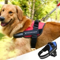 dogs reflective harnesses with leash oxford explosion proof rushing chest back for for medium large dog with traction rope puppy