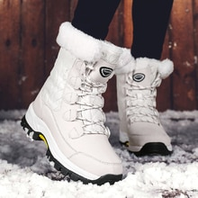 2020 Keep Warm Ankle Boots Shoes Women Winter Boots Winter Women Shoes Comfort Casual Lace-Up Platfo