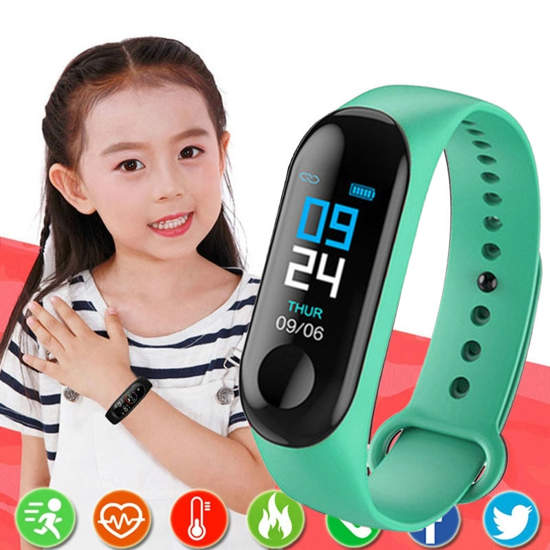 Kids Digital Watch Men or Women Smart Watch Heart Rate Blood Color Screen Monitor Pedometer Bluetoot
