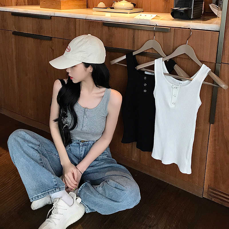 Real Shot I-Shaped Vest Women's Summer Inner Wear Outer Wear Hanging