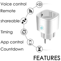 5PCS WiFi Switch Tuya Smart Socket Charger Outlet Remote EU Plugs Adaptors Home Appliances Wall Socket With Alexa Google Home
