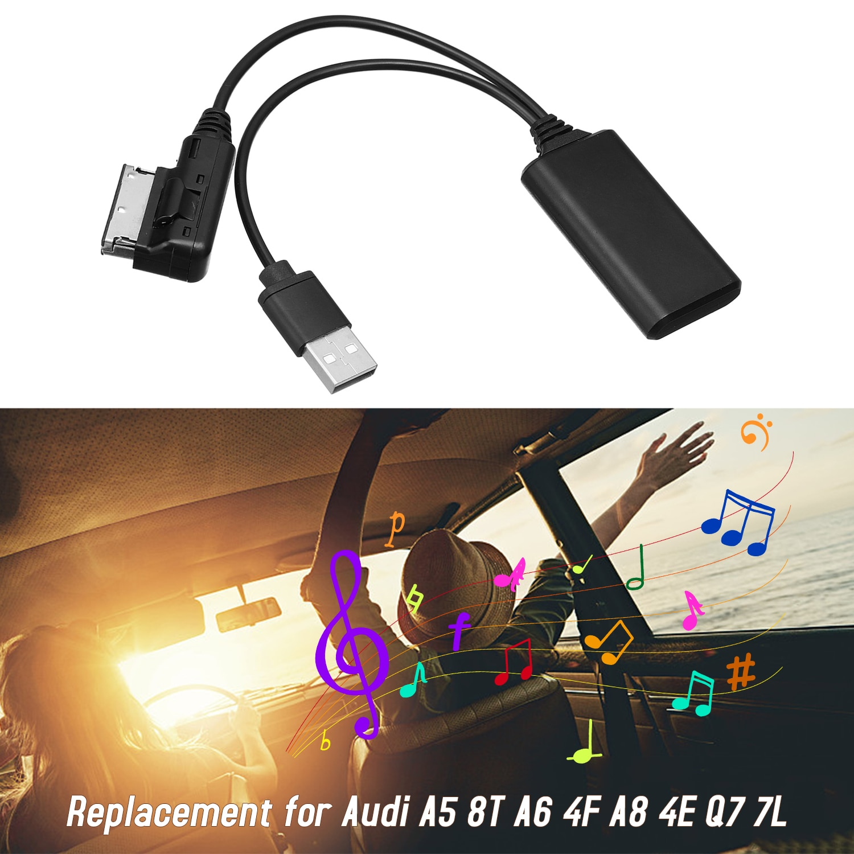 Adaptador de Audio auxiliar-in para coche con Cable USB, módulo inalámbrico BT AMI MMI 2G para Audi A5 8T A6 4F A8 4E Q7 7L