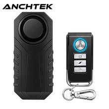 Anchtek กันน้ำรถจักรยานยนต์จักรยาน Anti-Theft Alarm รีโมทคอนโทรลไร้สายจักรยานปลุกความปลอดภัย113dB ไฟฟ้ารถยน...