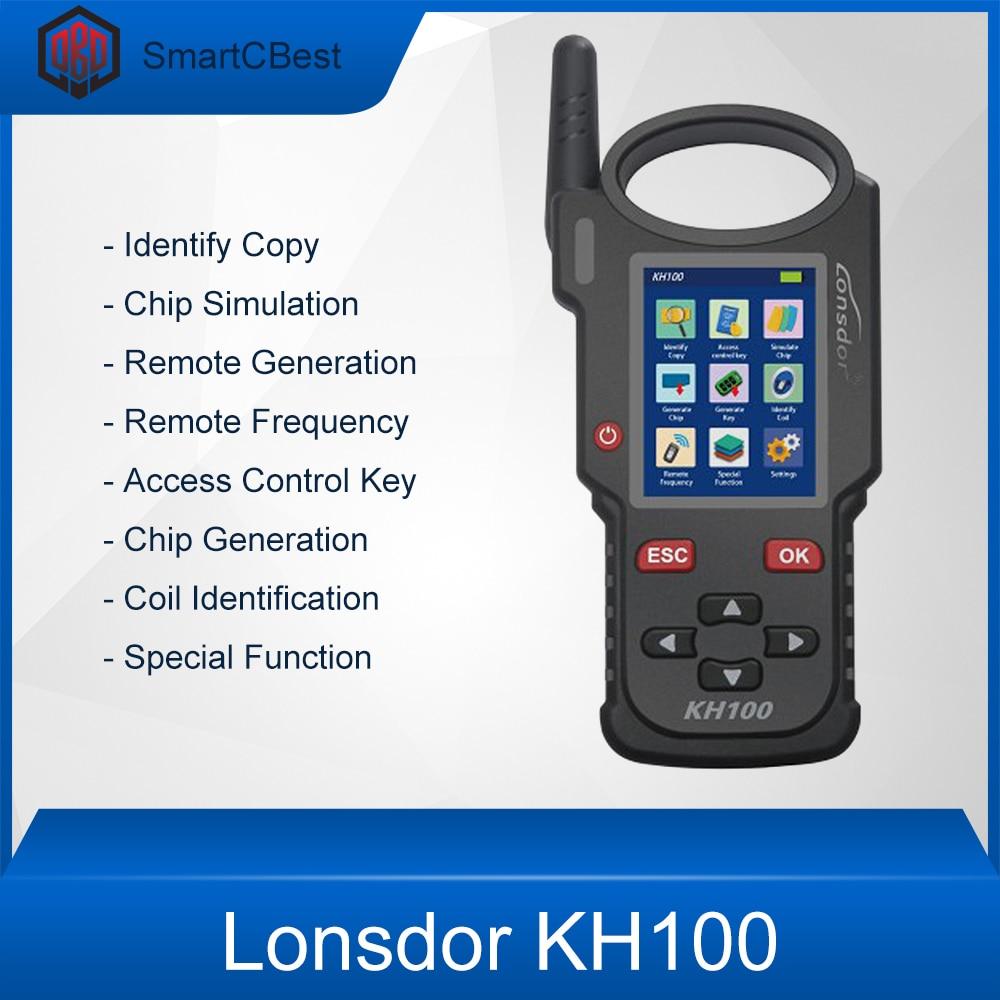 Lonsdor kh100 mão-realizada programador chave remota simular/gerar chip gerar remoto (chave) detectar immo
