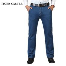 Printemps automne taille haute jean hommes Stretch marque mâle Baggy Denim pantalon classique noir hommes qualité affaires jean salopette