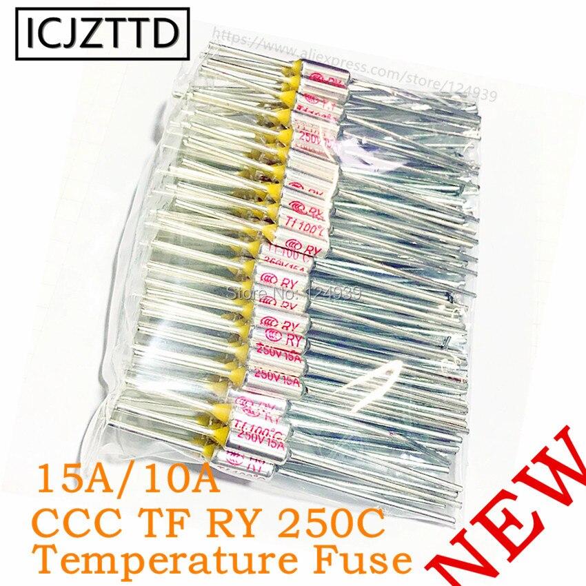 Fusível de metal ccc ry 250 v 10a 15a tf 140 graus celsius temperatura tf fusível térmico ry 140c fogão de arroz elétrico microondas