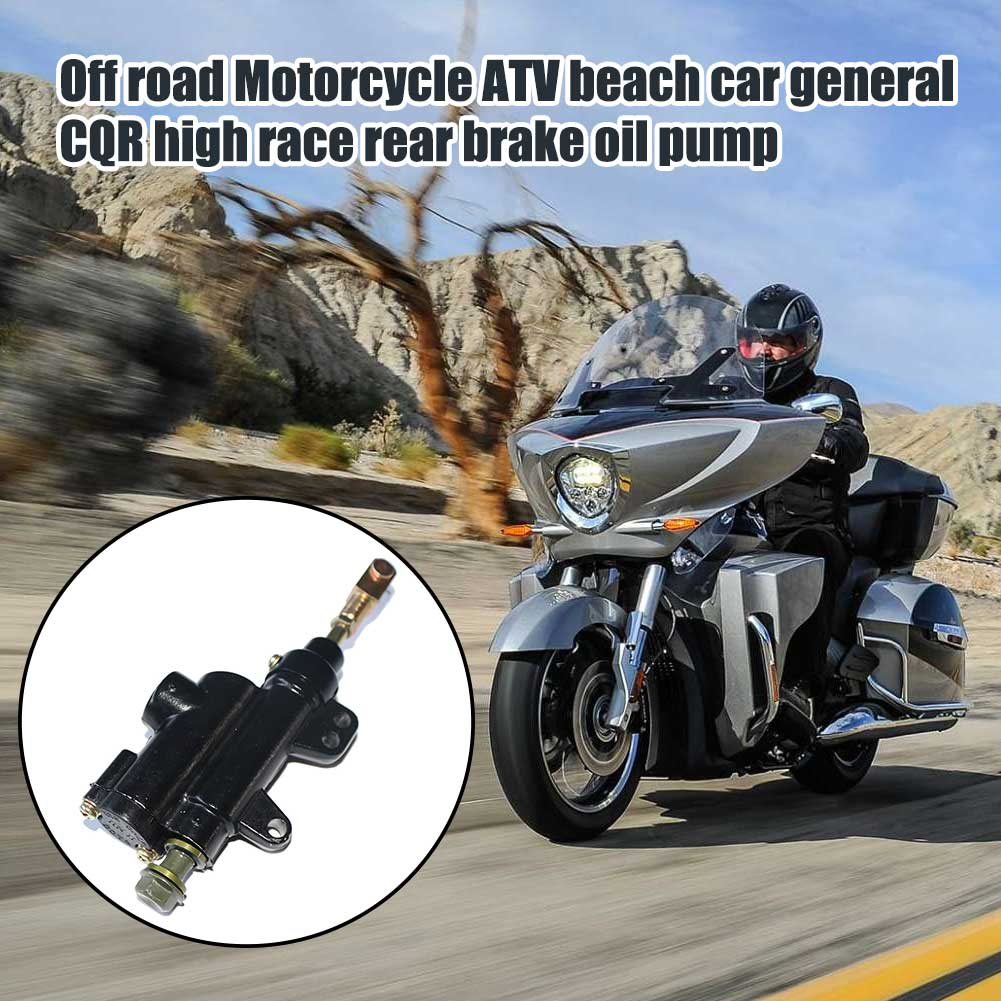 10mm de cilindro maestro de freno trasero fácil de instalar Mini accesorios duraderos para motocicleta 50cc-125cc reemplazo para ATV Dirtbike chino
