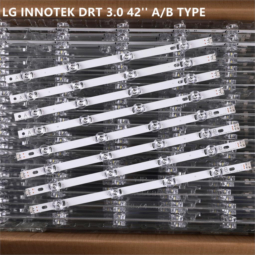 LED Backlight strip 8 Lamp For LG 42 inch TV INNOTEK DRT 3.0 42'' 6916L 1709B 1710B 1957E 1956E 6916L-1956A 6916L-1957A 42LB561v