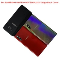 back rear glass case samsung back battery cover for samsung galaxy note10 s7 edge note10 note10 plus glass back cover