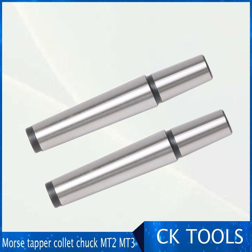 1 piezas Morse tapper collet chuck MT2 MT3 B10 B12 B16 B18 arbor adaptador manga para CNC Molino de herramienta de torno soporte con Rosca M10 M12