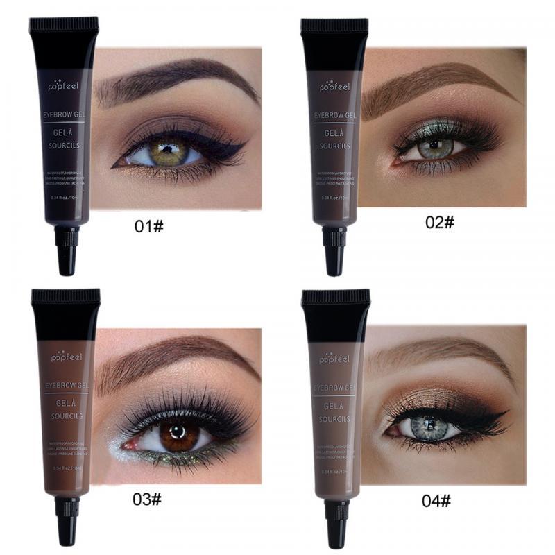 Ceja Popfeel Gel Cream 4 Color ceja impermeable larga duración tinte Realzador de maquillaje cejas tinte crema maquillaje cosmético