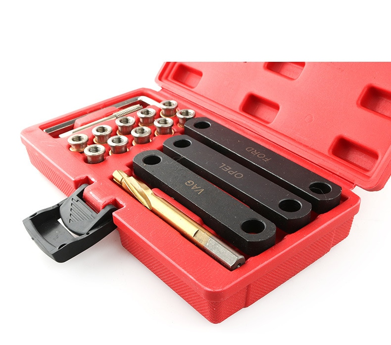 16pcs Brake Caliper Guide Thread Repair Tool Kit For VAG VW Vaux-hall Ford Seat M9 x 1.25mm Car Chair Repair Set