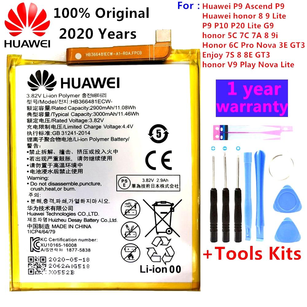 100% original Real 3000mAh HB366481ECW For Huawei p9/p9 lite/honor 8 / 5C /p10 lite/p8 lite 2017 /p20 lite/honor 9i battery 2018 new 100% original hb366481ecw real 3000mah battery for huawei p9 ascend p9 lite g9 honor 8 5c battery