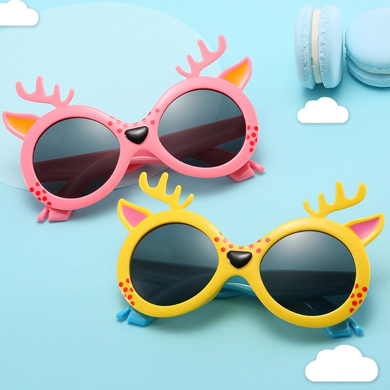 Children's Fawn Silicone Polarized Sunglasses UV protection Kids Sunglasses Boys And Girls Unisex