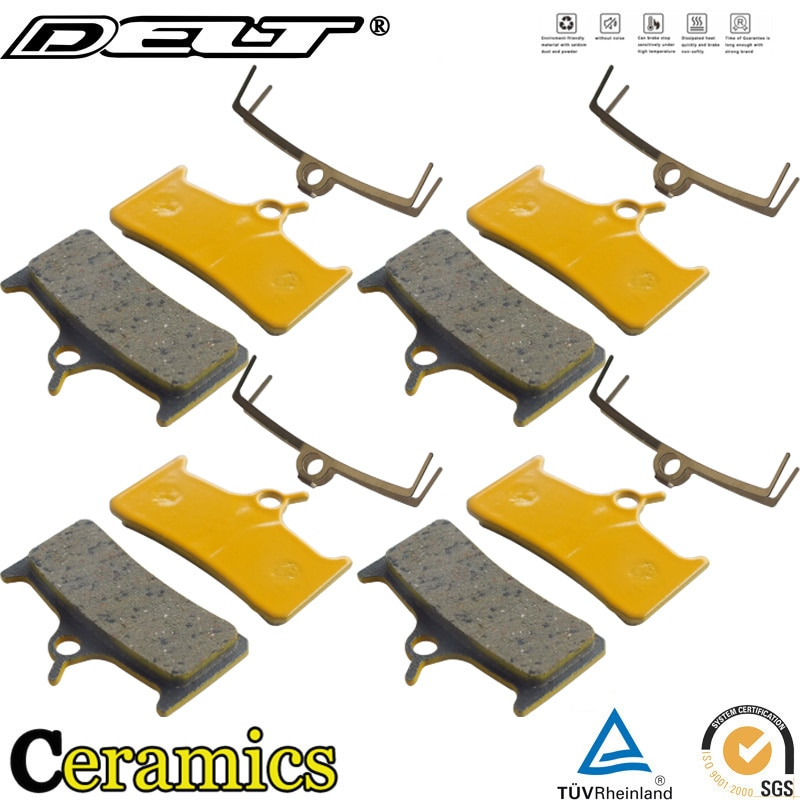 4 pares de cerámica MTB bicicleta freno de disco de bicicleta almohadillas para SHIMANO M755 M756 DEORE esperanza Mono M4 espero accesorios de partes de