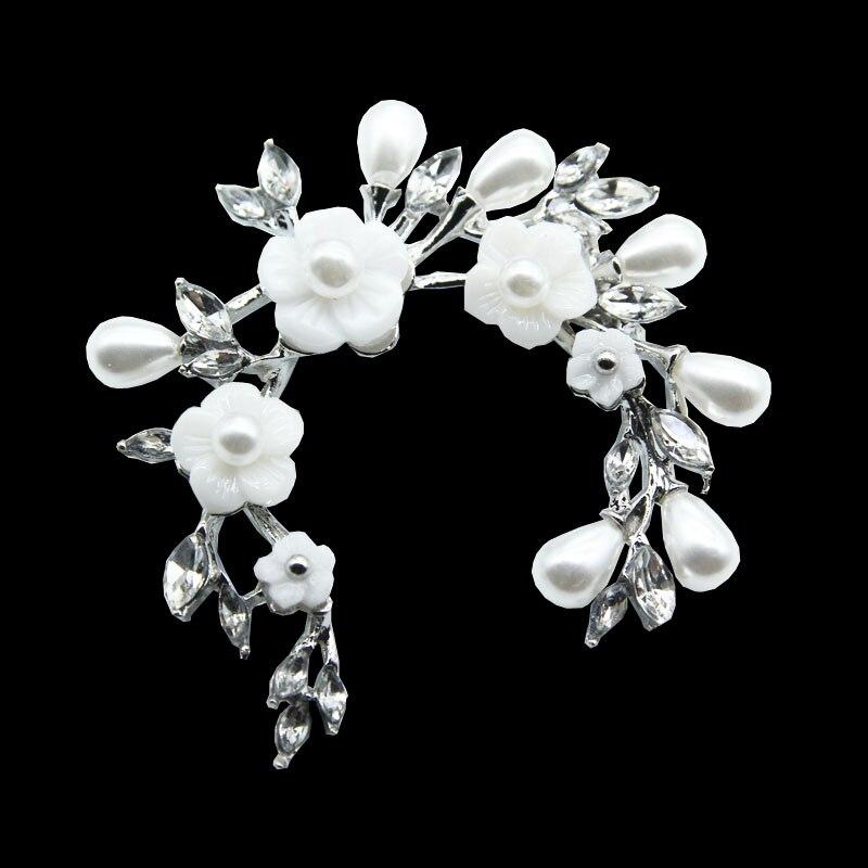 Broches de flores de caparazón blanco a la moda de RHao para mujer, ropa de boda, hebillas de joyería para hombre, traje de fiesta, ramillete, hijab, alfileres de sombreros
