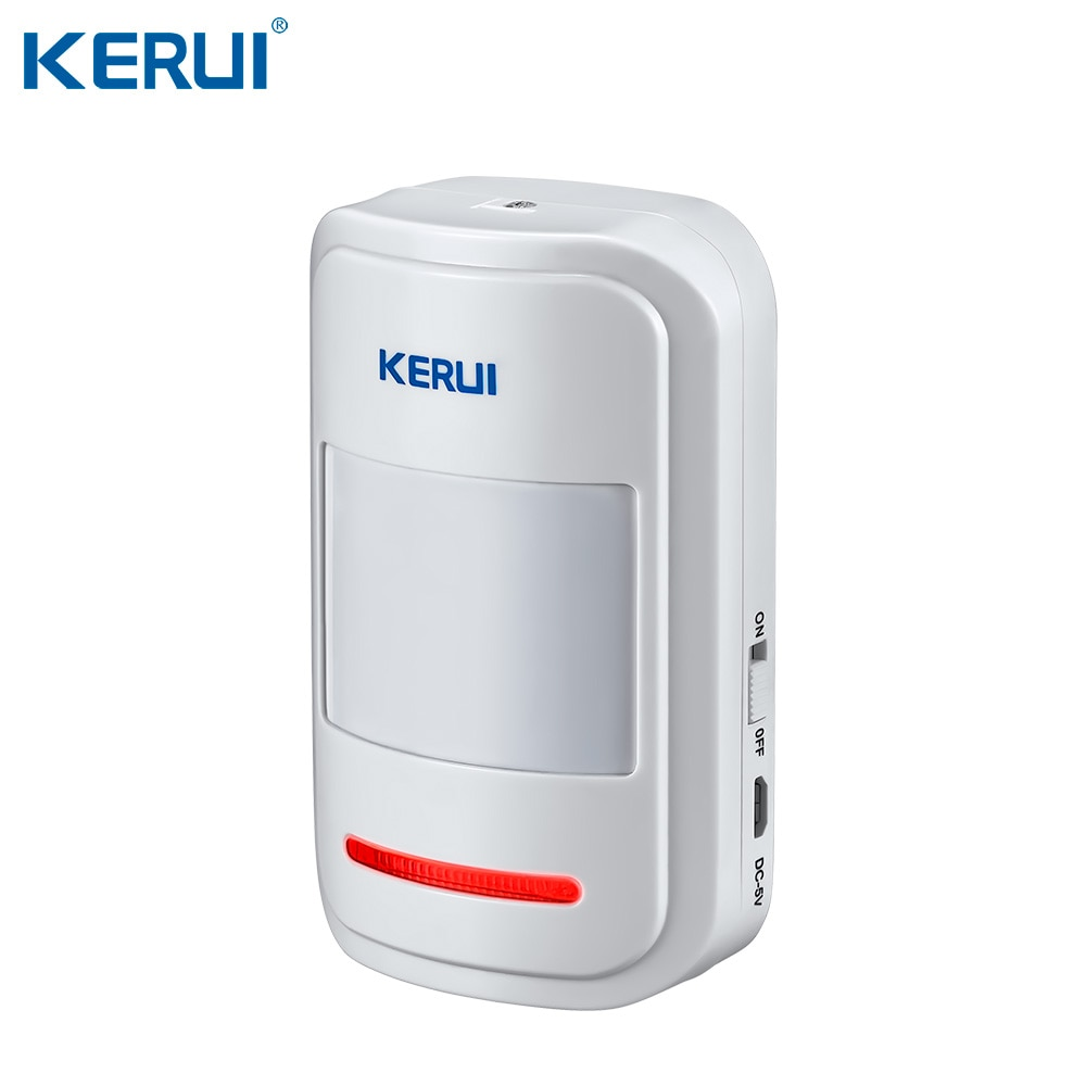 KERUI W18 WIFI GSM SMS Home Burglar Security Alarm System Curtain Motion Sensor  Wireless Solar Siren Wireless Smoke Sensor enlarge