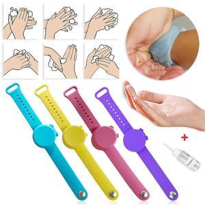 Мягкий силиконовый браслет, портативный дозатор мыла с емкостью для сжатия, многоразовые аксессуары для рук, школьные принадлежности