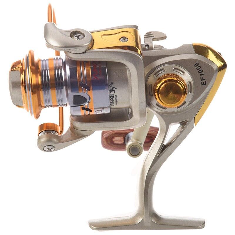 Carrete de pesca caliente HG carrete de pesca con mosca giratoria de aluminio carretes de pesca de lanzamiento de cebo de agua salada okuma baitrunner metal arrastre frontal EF1000