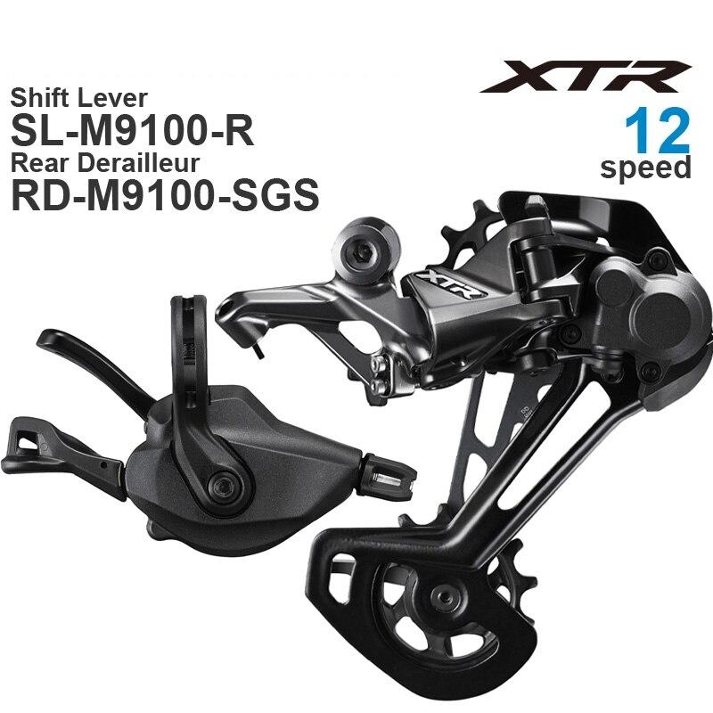 SHIMANO XTR M9100 1x12 فولت مجموعة دراجة هوائية جبلية M9100 محول و RD الخلفية Derailleur SGS 12 سرعة
