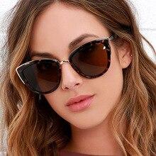Women Luxury Sunglasses Fashion Retro Cat Eye Sunglasses Plastic Women Vintage Big Sun Glasses Mirro