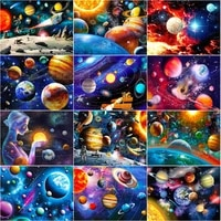full square drill 5d diy diamond painting stars in the galaxy rotating pattern modern style living room background art deco