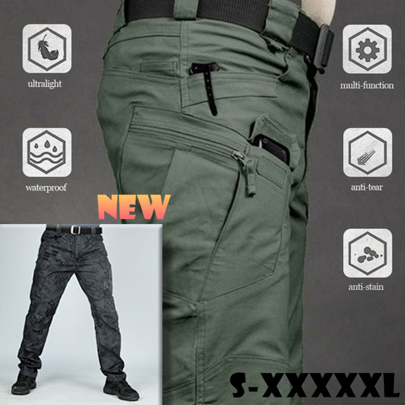 6XL Men Casual Cargo Pants Classic Outdoor Hiking Trekking Army Tactical Joggers Pant Camouflage Mil