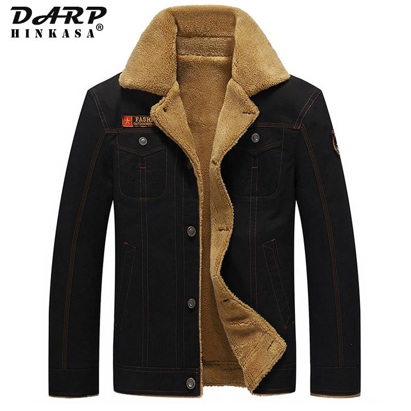 Новинка 2021, Зимняя Теплая мужская куртка, повседневное пальто в стиле милитари, куртка-бомбер, брендовая бархатная Толстая куртка, Мужская м...