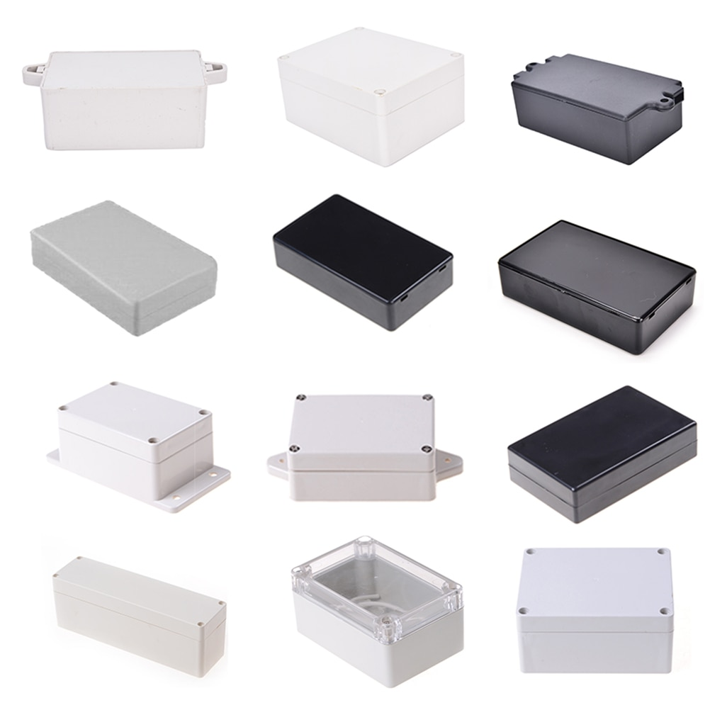 Connector Plastic Electronic Project Box Electrical Supplies 9 Sizes To Choose DIY Enclosure Instrument Case White Black New недорого