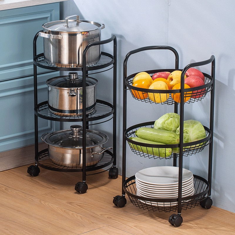 Kitchen Accessories Storage Basket Multi-Functional Vegetables Fruit Racks with Cover Drawer for Organizers Box Durable