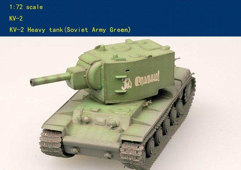 Modelo militar terminado 1 72 KV2 KV-2 de tanque pesado de la Unión Soviética.