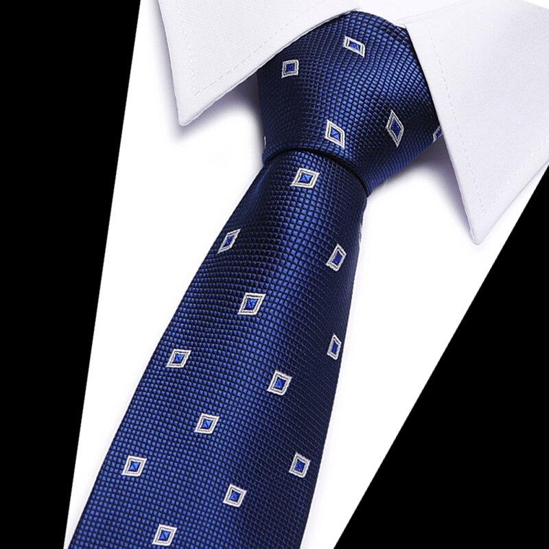 49 Colors Classic 7.5cm Tie for Man 100% Silk Tie Luxury Striped Business Neck Ties for Men Suit Cravat Wedding Party Necktie недорого