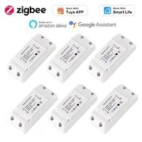 ZigBee     interrupteur sans fil pour Tuya Smart Life  minuteur  automatique  fonctionne avec Alexa Google Home  nouveaute 3 0
